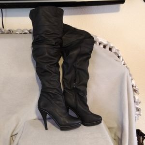 Charlotte Russe leather over the knee boot 9